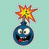 Funny bomb cartoon character
