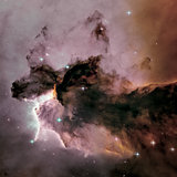 Eagle Nebula. Gas and dust rises from the stellar nursery.