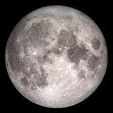 Closeup of full moon.