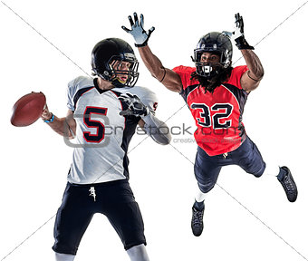 american football players men isolated