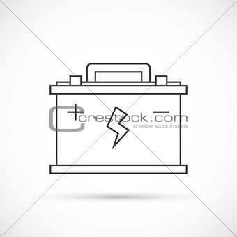 Car battery outline icon