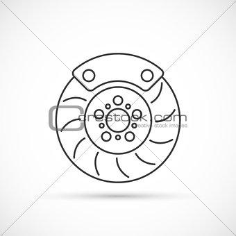 Brake disc outline icon