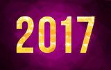 Vector 2017 New Year card