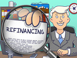 Refinancing through Lens. Doodle Concept.