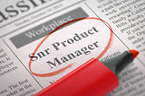 Snr Product Manager Wanted. 3D.
