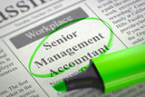 Senior Management Accountant Wanted. 3D.