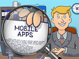 Mobile Apps through Magnifier. Doodle Style.