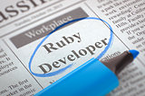 We are Hiring Ruby Developer. 3D.