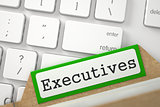 Index Card with Executives. 3D.
