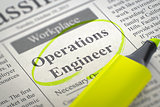 We're Hiring Operations Engineer. 3D.