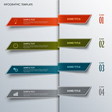 Info graphic with design colorful bookmarks template