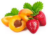Fresh fruits healthy food berry mix strawberries