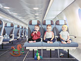 triplets in the airplane