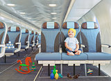 child in the airplane