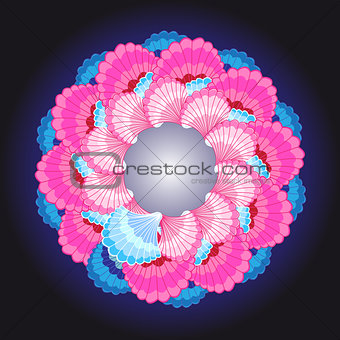 Abstract vector color bright ornament