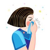 Portrait ailing woman