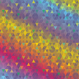 Colorful Abstract Triangles Background Illustration