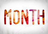 Month Concept Watercolor Word Art