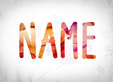 Name Concept Watercolor Word Art