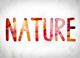 Nature Concept Watercolor Word Art