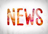 News Concept Watercolor Word Art