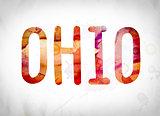Ohio Concept Watercolor Word Art