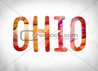 Ohio Concept Watercolor Word Art