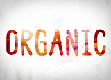 Organic Concept Watercolor Word Art