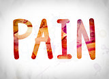 Pain Concept Watercolor Word Art