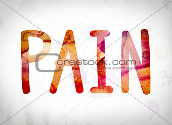 Pain Concept Watercolor Word Art