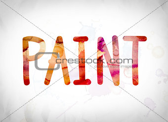 Paint Concept Watercolor Word Art