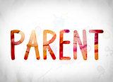 Parent Concept Watercolor Word Art