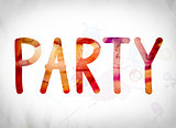 Party Concept Watercolor Word Art