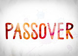 Passover Concept Watercolor Word Art