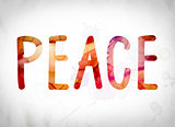 Peace Concept Watercolor Word Art