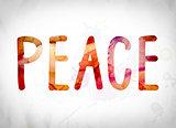 Peace Concept Watercolor Word Art