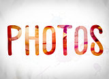 Photos Concept Watercolor Word Art