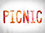 Picnic Concept Watercolor Word Art