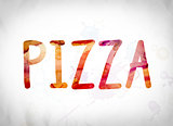 Pizza Concept Watercolor Word Art