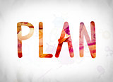 Plan Concept Watercolor Word Art