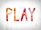 Play Concept Watercolor Word Art