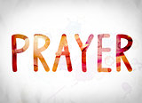 Prayer Concept Watercolor Word Art