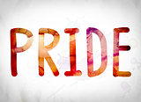 Pride Concept Watercolor Word Art