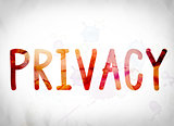 Privacy Concept Watercolor Word Art