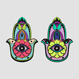 Multicolor Hamsa Hand