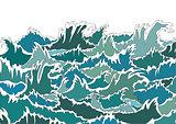 Storm ocean waves