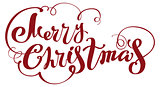Merry Christmas lettering text for greeting card