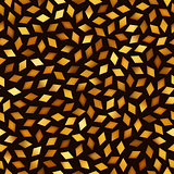 Vector Seamless Multicolor Golden Gradient Rhombus Jumble Pattern