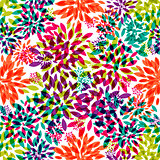 Flower Leaves Seamless Pattern Background Vector Illustration