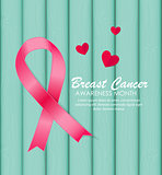 Breast Cancer Awareness Pink Ribbon Vector Illustration
